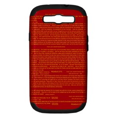 Mrtacpans Writing Grace Samsung Galaxy S Iii Hardshell Case (pc+silicone)