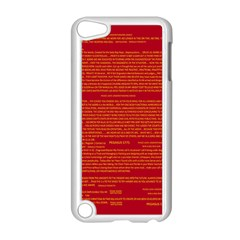 Mrtacpans Writing Grace Apple Ipod Touch 5 Case (white)