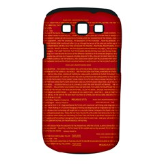 Mrtacpans Writing Grace Samsung Galaxy S Iii Classic Hardshell Case (pc+silicone)