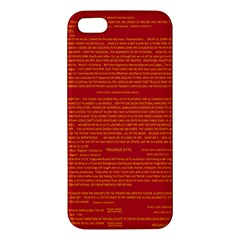 Mrtacpans Writing Grace Apple Iphone 5 Premium Hardshell Case