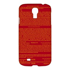 Mrtacpans Writing Grace Samsung Galaxy S4 I9500/i9505 Hardshell Case