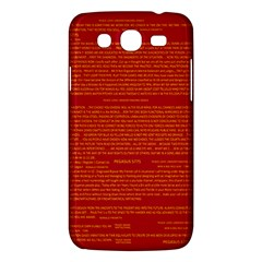 Mrtacpans Writing Grace Samsung Galaxy Mega 5 8 I9152 Hardshell Case