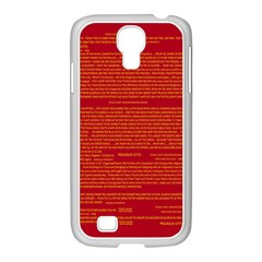 Mrtacpans Writing Grace Samsung Galaxy S4 I9500/ I9505 Case (white)