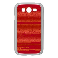 Mrtacpans Writing Grace Samsung Galaxy Grand Duos I9082 Case (white)