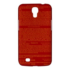 Mrtacpans Writing Grace Samsung Galaxy Mega 6 3  I9200 Hardshell Case