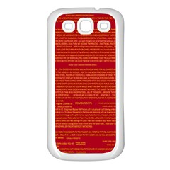 Mrtacpans Writing Grace Samsung Galaxy S3 Back Case (white)