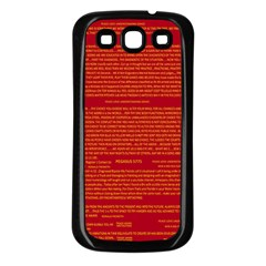 Mrtacpans Writing Grace Samsung Galaxy S3 Back Case (black)