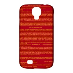 Mrtacpans Writing Grace Samsung Galaxy S4 Classic Hardshell Case (pc+silicone)