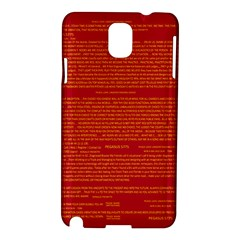 Mrtacpans Writing Grace Samsung Galaxy Note 3 N9005 Hardshell Case