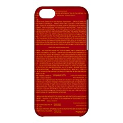 Mrtacpans Writing Grace Apple Iphone 5c Hardshell Case