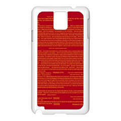 Mrtacpans Writing Grace Samsung Galaxy Note 3 N9005 Case (white)