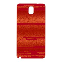 Mrtacpans Writing Grace Samsung Galaxy Note 3 N9005 Hardshell Back Case