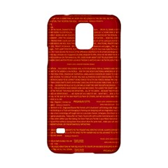 Mrtacpans Writing Grace Samsung Galaxy S5 Hardshell Case
