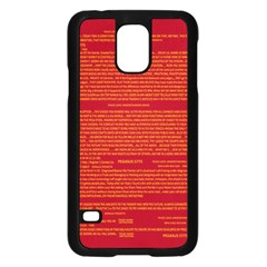 Mrtacpans Writing Grace Samsung Galaxy S5 Case (black)