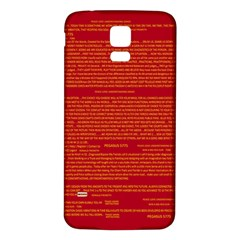 Mrtacpans Writing Grace Samsung Galaxy S5 Back Case (white)