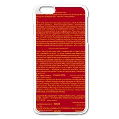 Mrtacpans Writing Grace Apple Iphone 6 Plus/6s Plus Enamel White Case