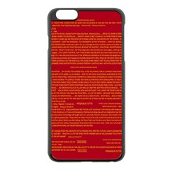 Mrtacpans Writing Grace Apple Iphone 6 Plus/6s Plus Black Enamel Case
