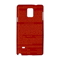 Mrtacpans Writing Grace Samsung Galaxy Note 4 Hardshell Case