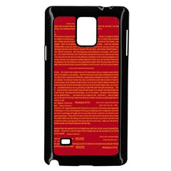 Mrtacpans Writing Grace Samsung Galaxy Note 4 Case (black)