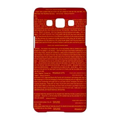 Mrtacpans Writing Grace Samsung Galaxy A5 Hardshell Case