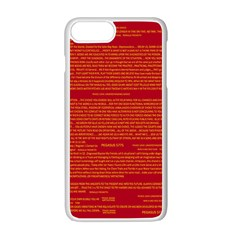 Mrtacpans Writing Grace Apple Iphone 7 Plus White Seamless Case