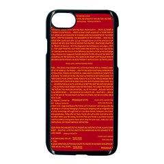 Mrtacpans Writing Grace Apple Iphone 7 Seamless Case (black)