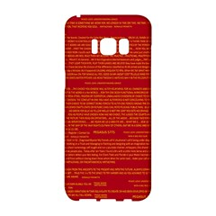Mrtacpans Writing Grace Samsung Galaxy S8 Hardshell Case