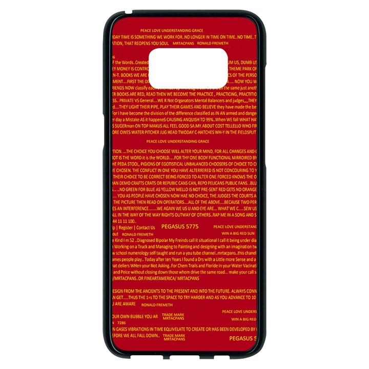 Mrtacpans Writing Grace Samsung Galaxy S8 Black Seamless Case
