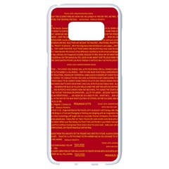 Mrtacpans Writing Grace Samsung Galaxy S8 White Seamless Case