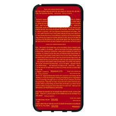 Mrtacpans Writing Grace Samsung Galaxy S8 Plus Black Seamless Case