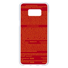 Mrtacpans Writing Grace Samsung Galaxy S8 Plus White Seamless Case