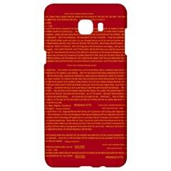 Mrtacpans Writing Grace Samsung C9 Pro Hardshell Case