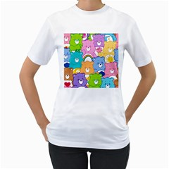 Care Bears Women s T Shirt (white) (two Sided)