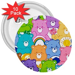 Care Bears 3  Buttons (10 Pack)