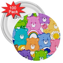 Care Bears 3  Buttons (100 Pack)