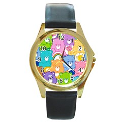 Care Bears Round Gold Metal Watch