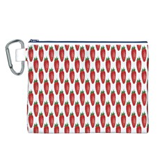 Strawberry Pattern Canvas Cosmetic Bag (l)