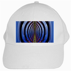 Illustration Robot Wave Rainbow White Cap