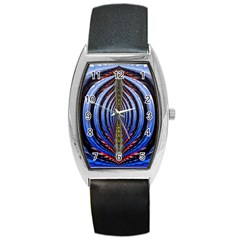 Illustration Robot Wave Rainbow Barrel Style Metal Watch