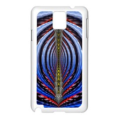 Illustration Robot Wave Rainbow Samsung Galaxy Note 3 N9005 Case (white)