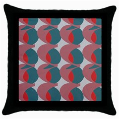 Pink Red Grey Three Art Throw Pillow Case (black)