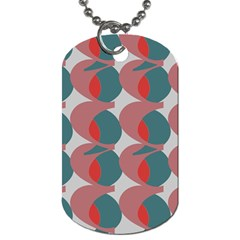 Pink Red Grey Three Art Dog Tag (two Sides)