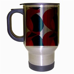Pink Red Grey Three Art Travel Mug (silver Gray)