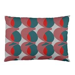 Pink Red Grey Three Art Pillow Case