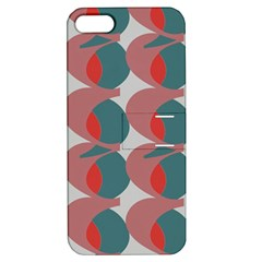 Pink Red Grey Three Art Apple Iphone 5 Hardshell Case With Stand