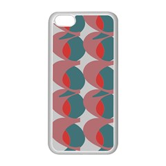 Pink Red Grey Three Art Apple Iphone 5c Seamless Case (white)