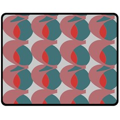 Pink Red Grey Three Art Double Sided Fleece Blanket (medium)