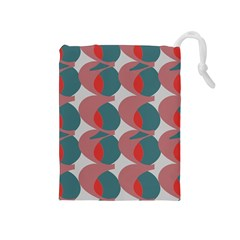 Pink Red Grey Three Art Drawstring Pouches (medium)
