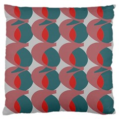 Pink Red Grey Three Art Large Flano Cushion Case (two Sides)