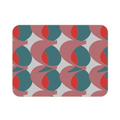 Pink Red Grey Three Art Double Sided Flano Blanket (mini)